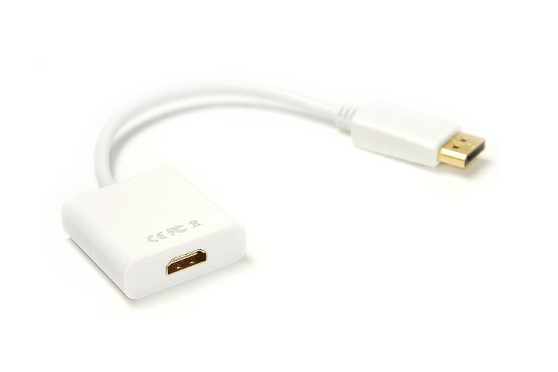 Купить Кабель-переходник PowerPlant HDMI - DisplayPort, 0.15м, 1.4V