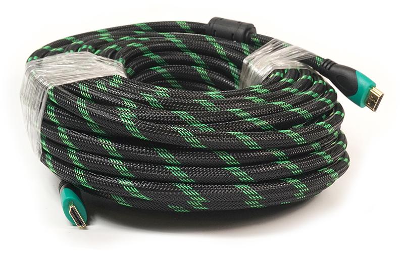 Купить Видео кабель PowerPlant HDMI - HDMI, 20м, позолоченные коннекторы, 2.0V, Double ferrites, Highspeed