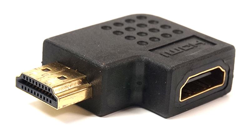 Купить Переходник PowerPlant HDMI AF - HDMI AM, правый угол