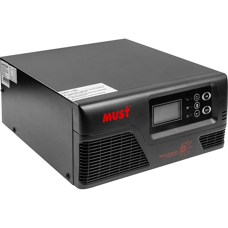 Купить Преобразователь напряжения Must 1000W с чистой синусоидой, 12V, LCD