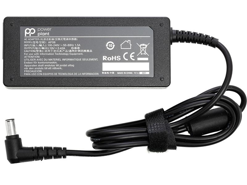 Купить Блок питания для ноутбуков PowerPlant LG 220V, 19V 65W 3.42A (6.5*4.4)