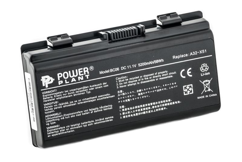 Купить Аккумулятор PowerPlant для ноутбуков ASUS X51H (A32-T12, AS5151LH) 11.1V 5200mAh