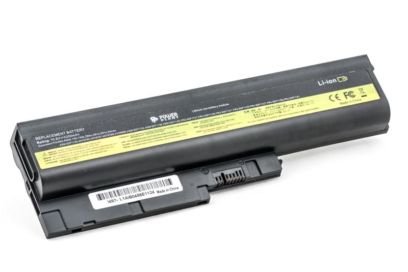 Купить Аккумулятор PowerPlant для ноутбуков IBM/LENOVO ThinkPad R60 (92P1139, IB T60 3S2P) 10.8V 5200mAh