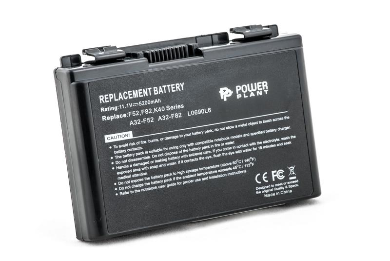 Купить Аккумулятор PowerPlant для ноутбуков ASUS F82 (A32-F82, AS F82 3S2P) 11.1V 5200mAh