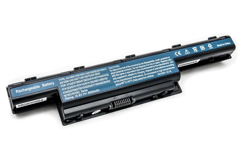 Купить Аккумулятор PowerPlant для ноутбуков ACER Aspire 4551 (AS10D41, AC 4741, 3S2P) 10.8V 6600mAh