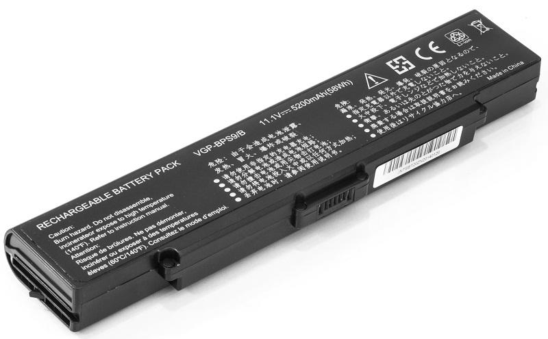 Купить Аккумулятор PowerPlant для ноутбуков SONY VAIO VGN-CR20 (VGP-BPS9, SO BPS9 3S2P) 11.1V 5200mAh