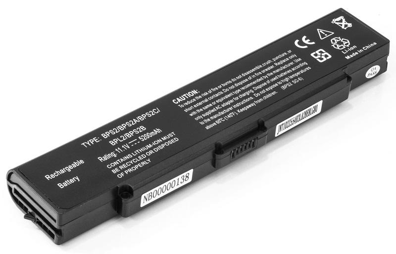 Купить Аккумулятор PowerPlant для ноутбуков SONY VAIO PCG-6C1N (VGP-BPS2, SY5651LH) 11.1V 5200mAh