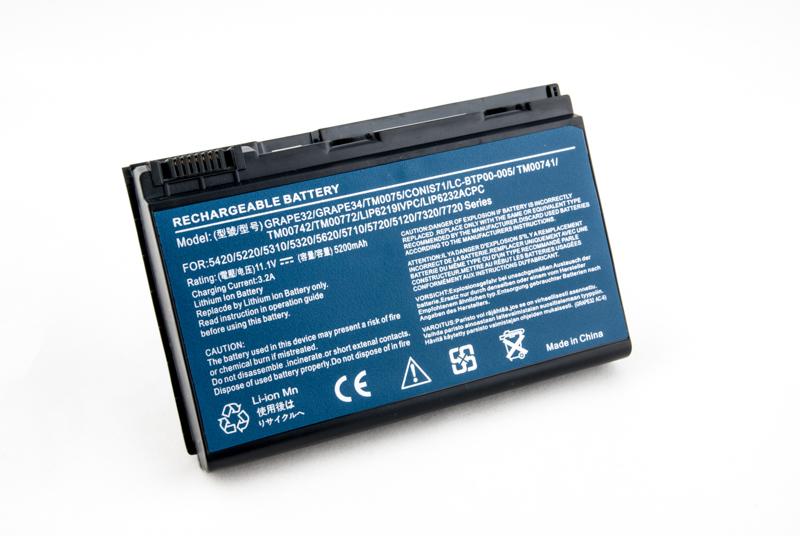 Купить Аккумулятор PowerPlant для ноутбуков ACER Extensa 5210 (Grape32, AR5321) 11.1V 5200mAh