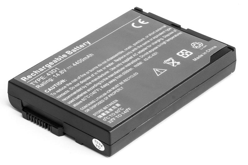 Купить Аккумулятор PowerPlant для ноутбуков ACER TravelMate BTP-43D1 (BTP-43D1, AC-43D1-8)  14.8V 4400mAh