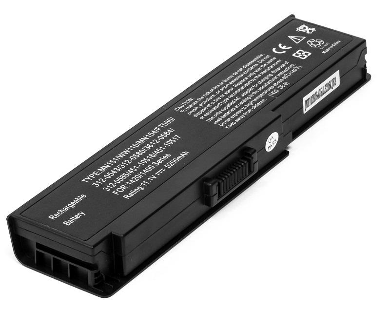 Купить Аккумулятор PowerPlant для ноутбуков DELL Inspiron 1400 (MN151 DE-1420-6) 11.1V 5200mAh