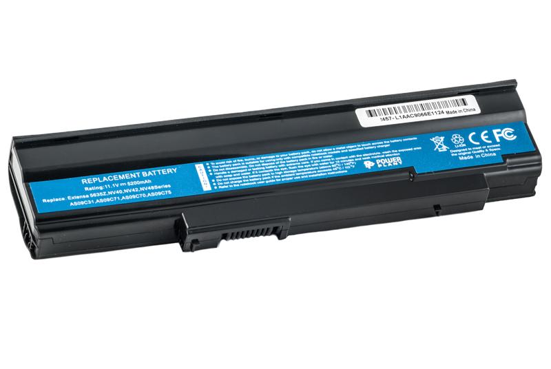 Купить Аккумулятор PowerPlant для ноутбуков ACER Extensa 5635ZA (AS09C31, 5635Z) 11.1V 5200mAh