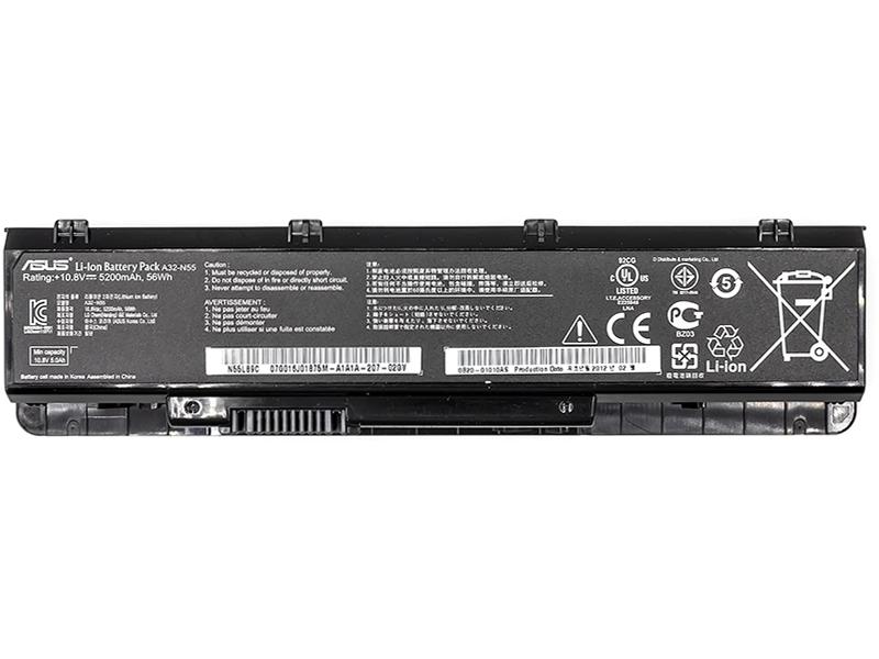 Купить Аккумулятор для ноутбуков ASUS A32-N55 (A32-N55) 10.8V 5200mAh