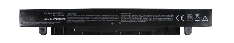 Купить Аккумулятор PowerPlant для ноутбуков ASUS X450 (A41-X550, AS-X550-4) 14.4V 2600mAh