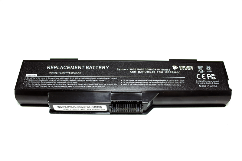 Купить Аккумулятор PowerPlant для ноутбуков IBM/LENOVO G410 (ASM BAHL00L6S, FRU 121SS080C) 11.1V 5200mAh