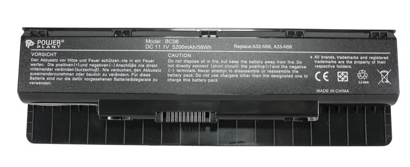 Купить Аккумулятор PowerPlant для ноутбуков ASUS N46 (A32-N56) 11.1V 5200mAh