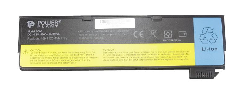 Купить Аккумулятор PowerPlant для ноутбуков IBM/LENOVO ThinkPad T440 (45N1127) 10.8V 5200mAh