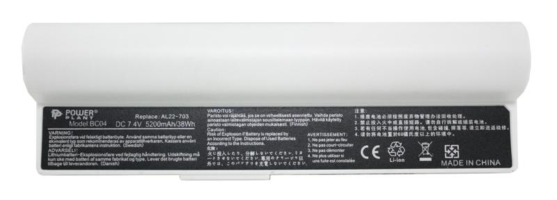 Купить Аккумулятор PowerPlant для ноутбуков ASUS Eee PC 900A Series (AL22-703) 7.4V 5200mAh White