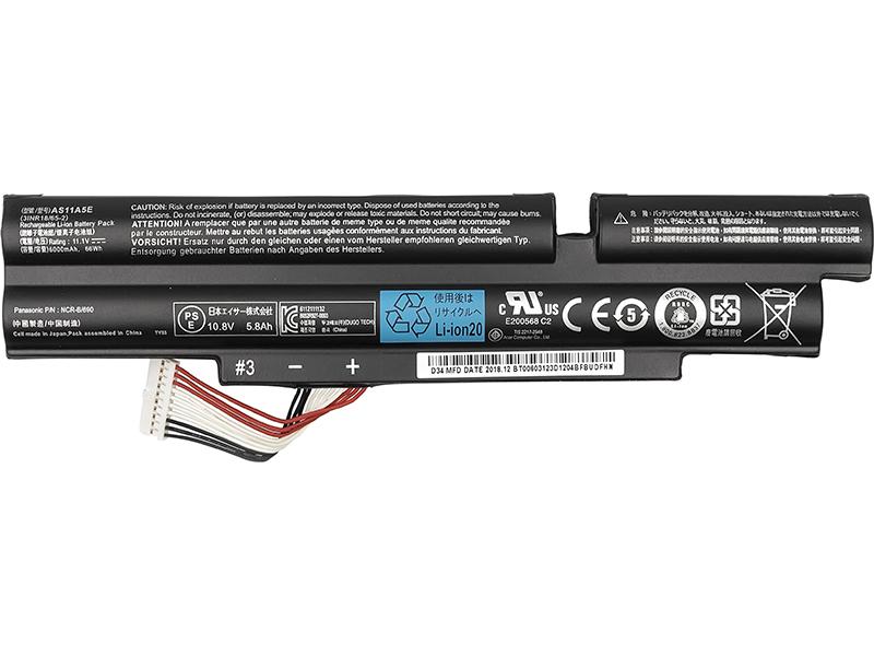 Купить Аккумулятор PowerPlant для ноутбуков ACER Aspire TimelineX 3830T (3ICR19/B6) 10.8V 5200mAh