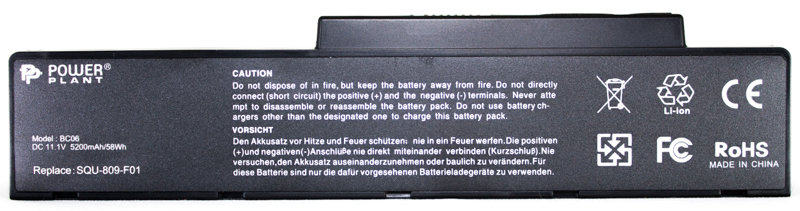 Купить Аккумулятор PowerPlant для ноутбуков FUJITSU Amilo Pi3560 (SQU-809-F01) 11.1V 5200 mAh
