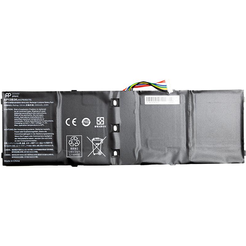 Купить Аккумулятор PowerPlant для ноутбуков ACER Aspire V5-573 Series (AP13B3K, ARV573PA) 14.8V 3200mAh