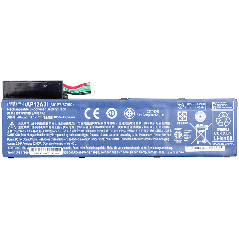 Купить Аккумулятор для ноутбуков ACER Aspire M5-581T (AP12A3i) 11.1V 4850mAh (original)