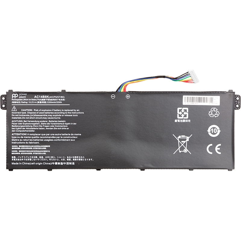 Купить Аккумулятор PowerPlant для ноутбуков ACER Aspire E15 ES1-512 Series (AC14B8K) 15.2V 2200mAh