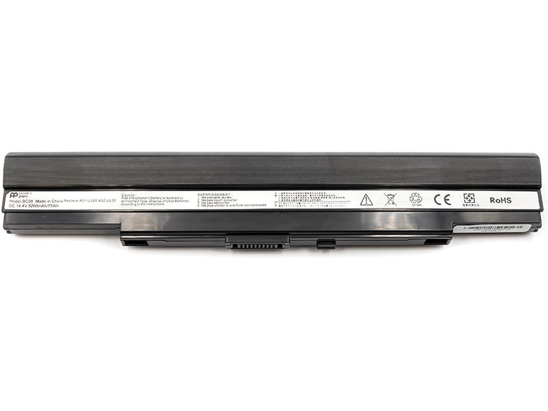 Купить Аккумулятор PowerPlant для ноутбуков ASUS U30 Series (A31-UL30, ASU300LH) 14.4V 5200mAh