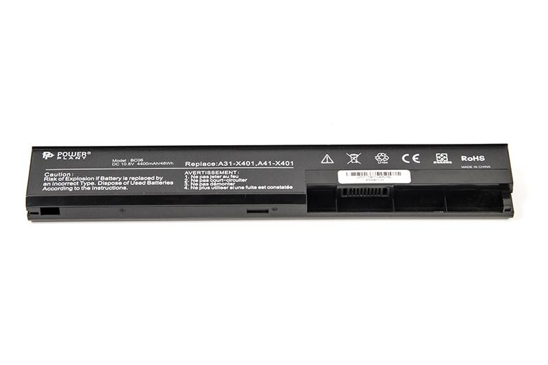 Купить Аккумулятор PowerPlant для ноутбуков ASUS X401 (ASX401LH, A32-X401) 10.8V 4400mAh