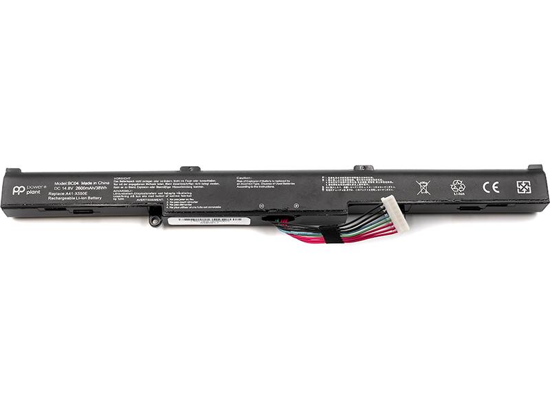 Купить Аккумулятор PowerPlant для ноутбуков ASUS X450 (AS450EL7, A41-X550E) 14.8V 2600mAh