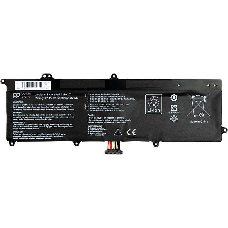 Купить Аккумулятор PowerPlant для ноутбуков Asus VivoBook S200E Series (C21-X202) 7.4V 5000mAh