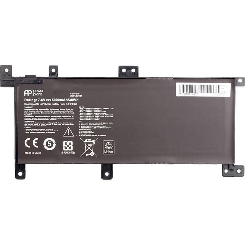Купить Аккумулятор PowerPlant для ноутбуков ASUS VivoBook X556U (C21N1509) 7.6V 5000mAh
