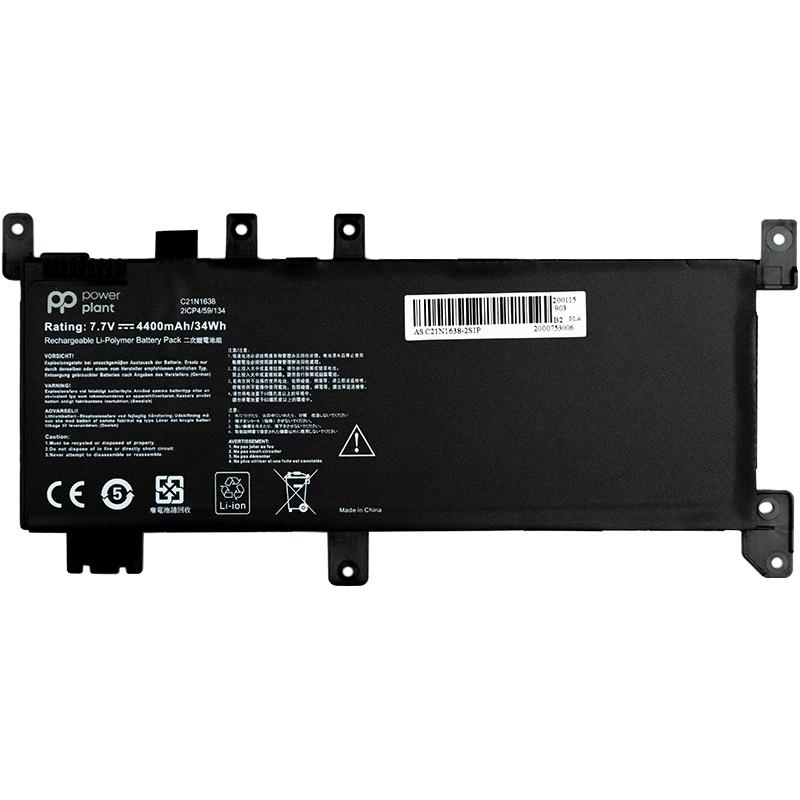 Купить Аккумулятор PowerPlant для ноутбуков ASUS VivoBook A480U (C21N1638) 7.7V 4400mAh