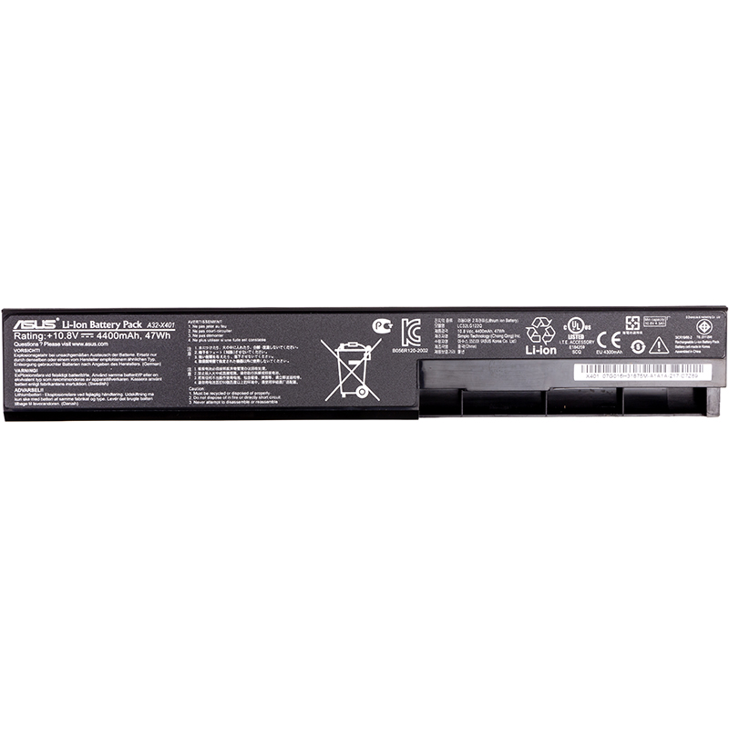 Купить Аккумулятор PowerPlant для ноутбуков ASUS X401 (A32-X401) 10.8V 4400mAh