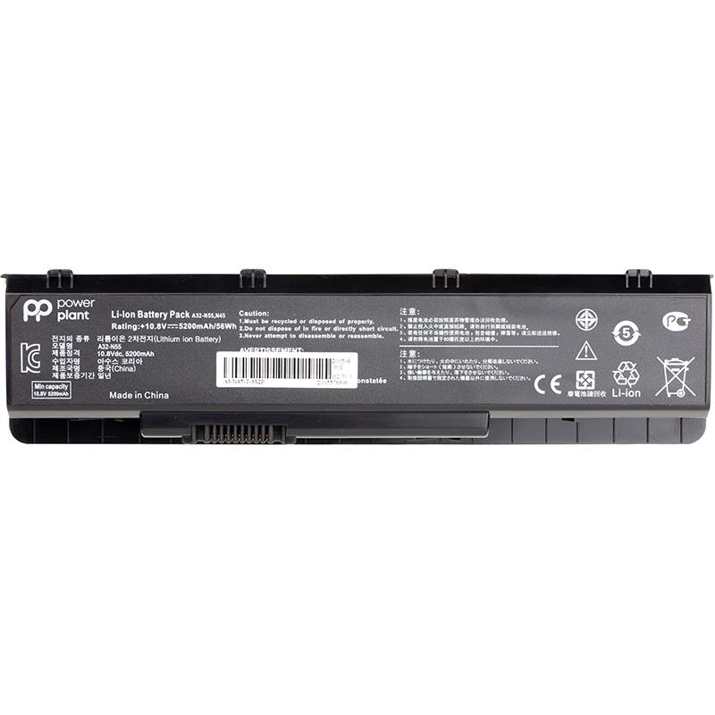 Купить Аккумулятор PowerPlant для ноутбуков ASUS N55 Series (A32-N55) 10.8V 5200mAh