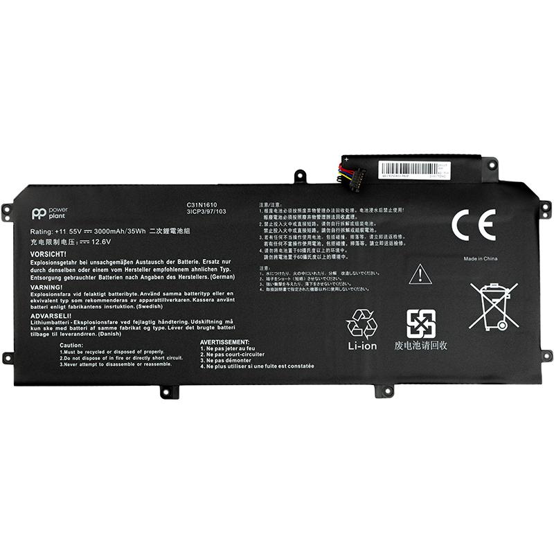 Купить Аккумулятор PowerPlant для ноутбуков Asus Zenbook UX330 (C31N1610) 11.55V 3000mAh
