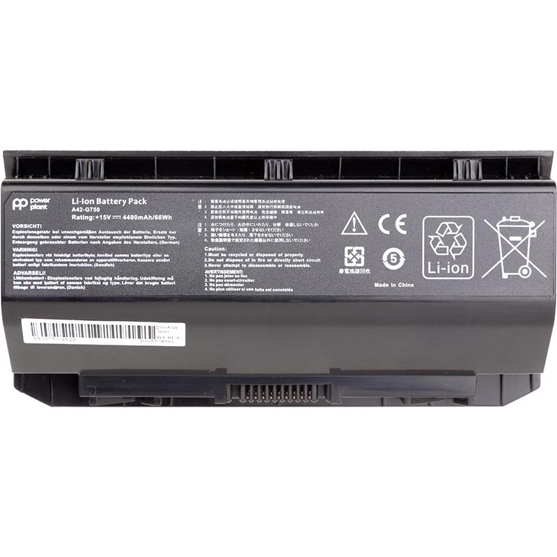 Купить Аккумулятор PowerPlant для ноутбуков ASUS G750 Series (A42-G750) 15V 4400mAh