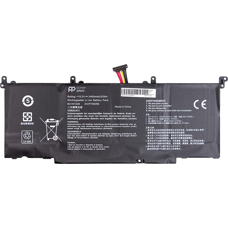 Купить Аккумулятор PowerPlant для ноутбуков ASUS ROG S5 (B41N1526) 15.2V 3400mAh