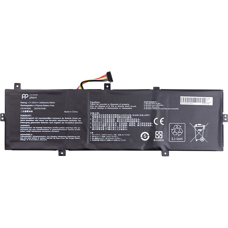 Купить Аккумулятор PowerPlant для ноутбуков ASUS Zenbook UX430U (C31N1620) 11.55V 3400mAh