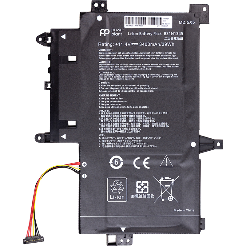 Купить Аккумулятор PowerPlant для ноутбуков ASUS Transformer Book Flip TP500L (B31N1345) 11.4V 3400mAh
