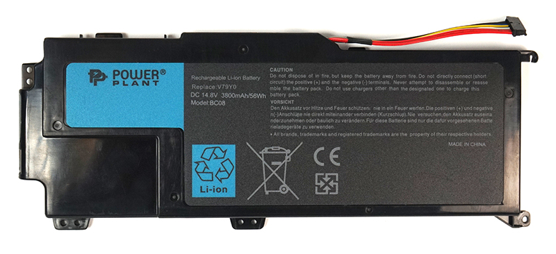 Купить Аккумулятор PowerPlant для ноутбуков DELL XPS 14z (V79Y0) 14.8V 3800mAh