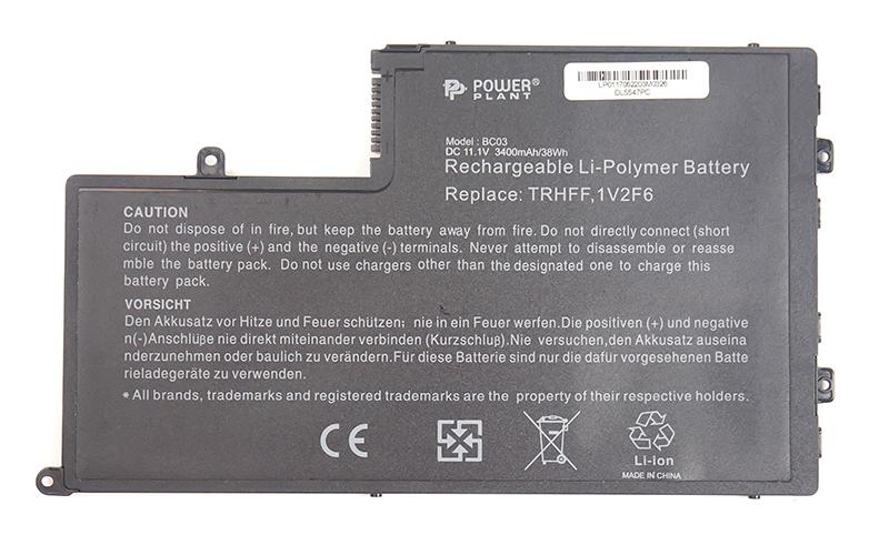 Купить Аккумулятор PowerPlant для ноутбуков DELL Inspiron 15-5547 Series (TRHFF, DL5547PC) 11.1V 3400mAh