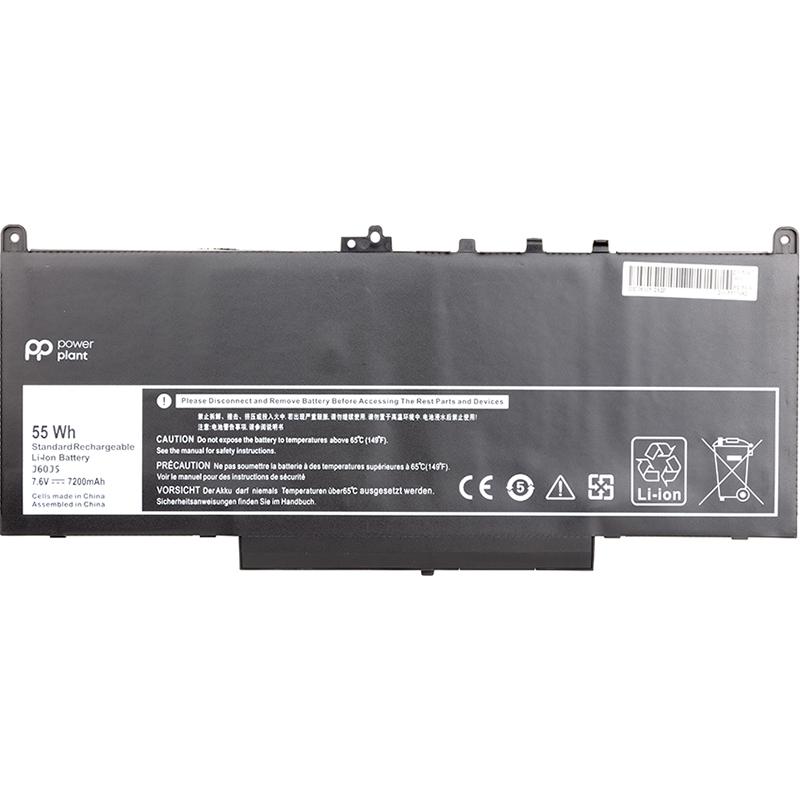 Купить Аккумулятор PowerPlant для ноутбуков DELL Latitude E7270 (J60J5) 7.6V 7200mAh