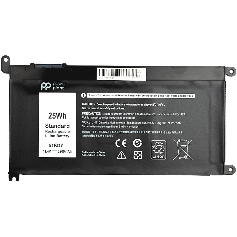 Купить Аккумулятор PowerPlant для ноутбуков DELL Chromebook 3180 (51KD7) 11.4V 2200mAh