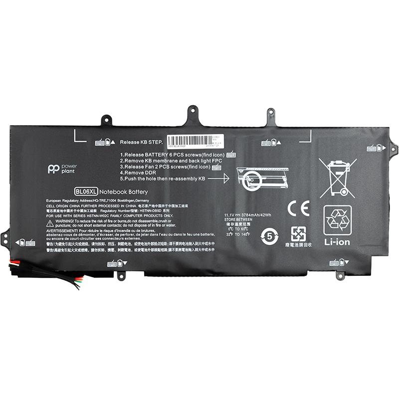 Купить Аккумулятор PowerPlant для ноутбуков HP EliteBook Folio 1040 G0 (BL06XL) 11.1V 3784mAh