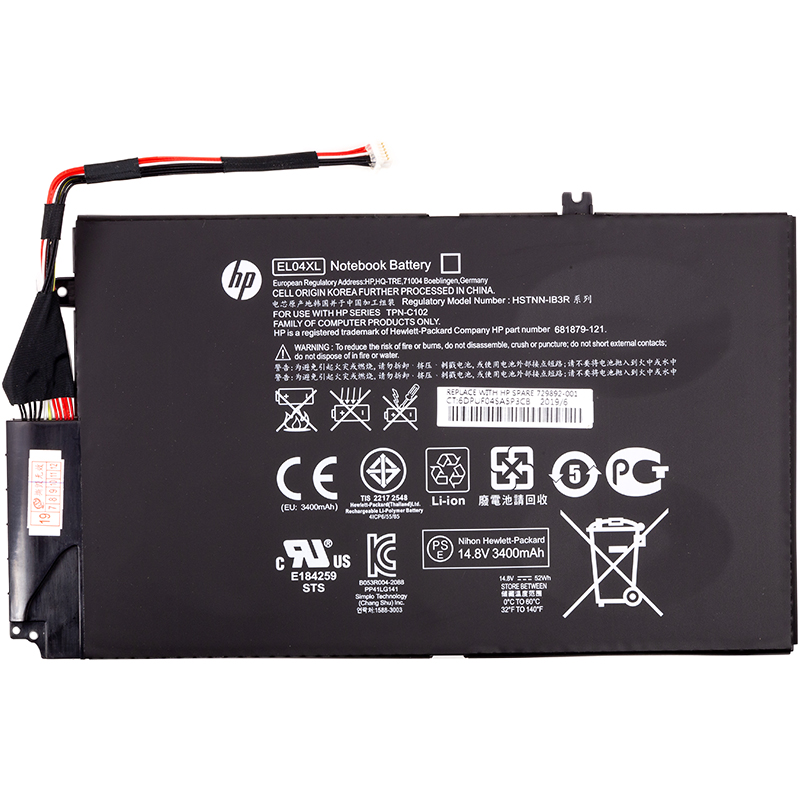 Купить Аккумулятор для ноутбуков HP Envy TouchSmart 4 (EL04XL, HPTS40PB) 14.8V 3400mAh (original)