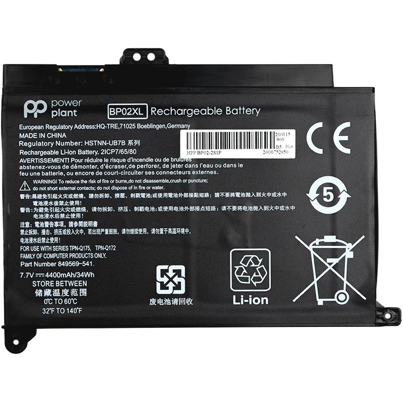 Купить Аккумулятор PowerPlant для ноутбуков HP Pavilion Notebook PC 15 (BP02XL) 7.7V 4400mAh