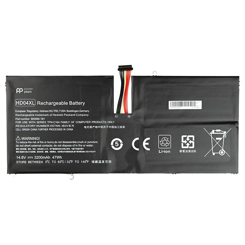 Купить Аккумулятор PowerPlant для ноутбуков HP Envy Spectre XT 13-2120TU (HD04XL) 14.8V 3200mAh