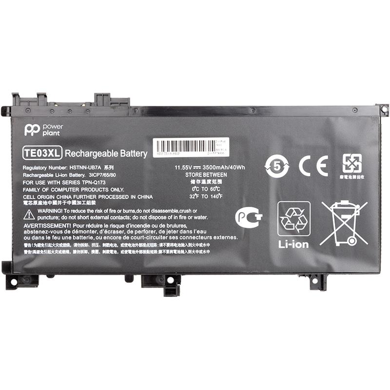 Купить Аккумулятор PowerPlant для ноутбуков HP Omen 15 AX000 (HSTNN-UB7A, TE03) 11.55V 3500mAh