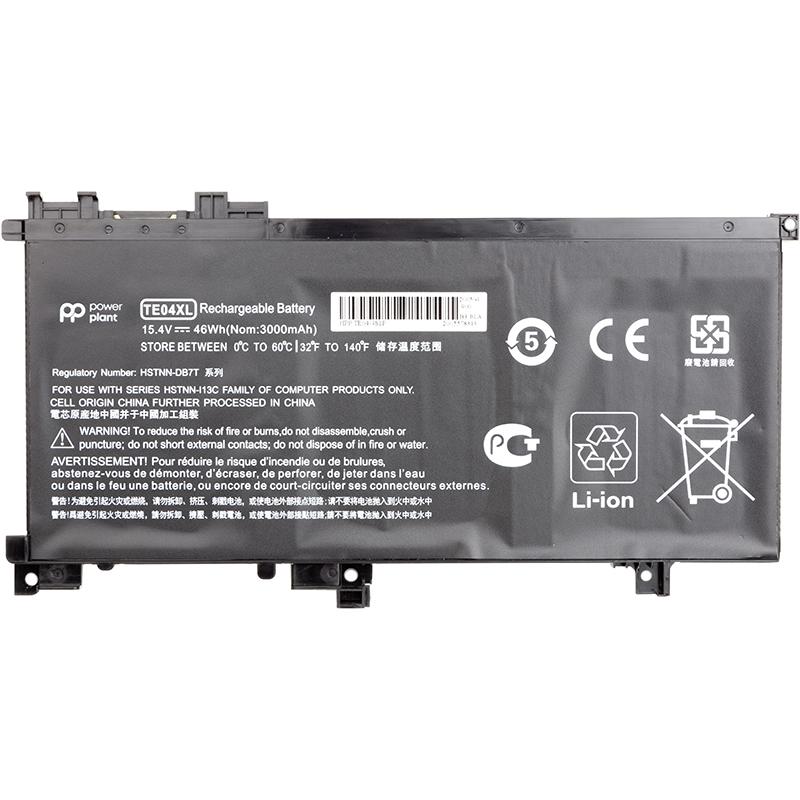 Купить Аккумулятор PowerPlant для ноутбуков HP Omen 15 AX200 (HSTNN-DB7T, TE04) 15.4V 3000mAh