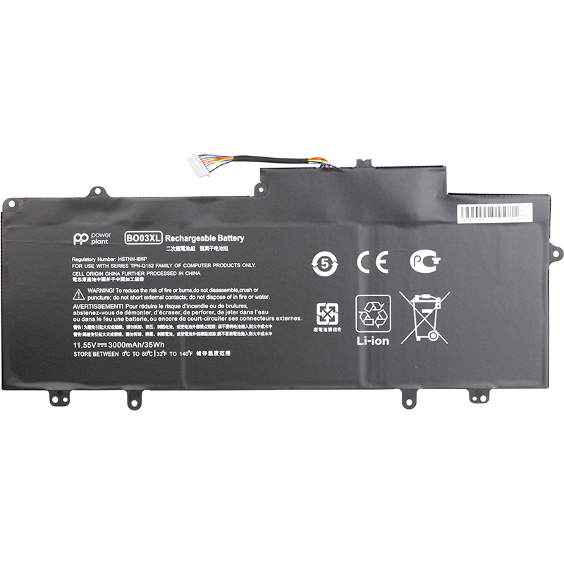 Купить Аккумулятор PowerPlant для ноутбуков HP Chromebook 14 G3 (BO03XL) 11.55V 3000mAh